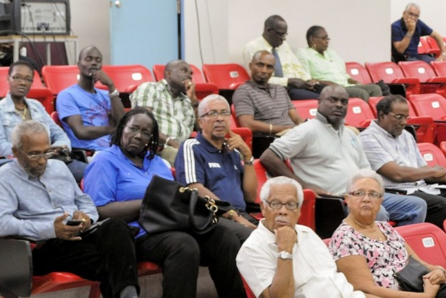 durung a WICB town hall meeting at Cave Hill campus of the University of the West Indies in, Bridgetown, Barbados on Friday, May 22, 2015. Photo by WICB Media/Randy Brooks of Brooks Latouche Photography