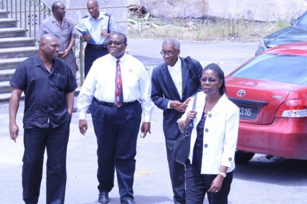 From left Editor-In-Chief Roy Morris, editor Sanka Price, attorney-at-law Ezra Alleyne and Publisher Vivian-Anne Gittens.