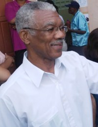 Presidential candidate David Granger