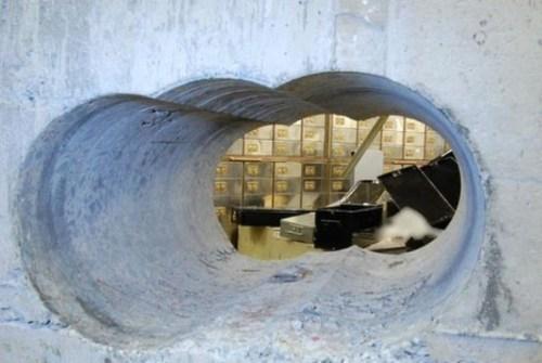 Thieves used heavy cutting equipment to break into the Hatton Garden Safety Deposit Ltd vault.