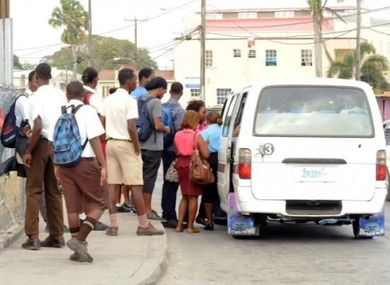 These school children were left to find alternate transportation to school.