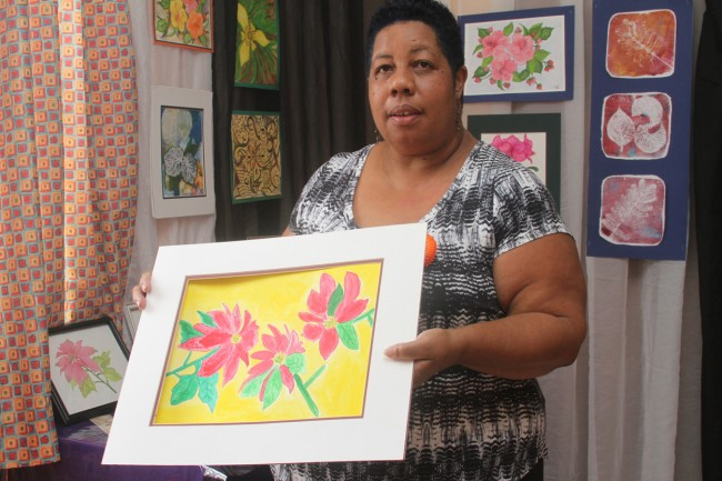 For cancer patient Sonja Blenman, art is a great way to relax and take her mind off therapy