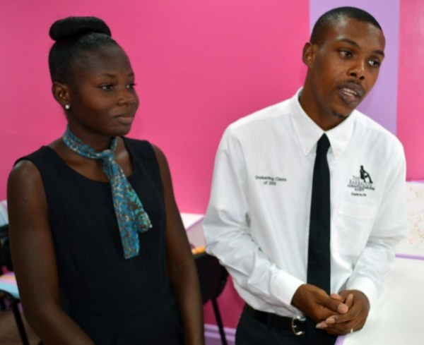 Case manager Kimberly Hinds-Harewood  and manager Kemar Saffrey.