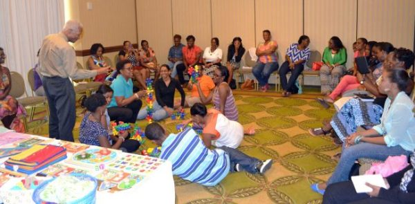 Parents, teachers and caregivers participated in the free workshop.