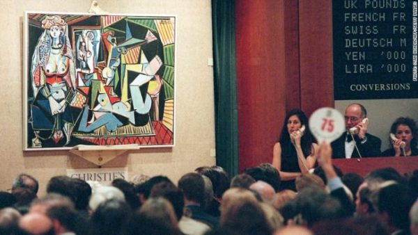 """The Picasso piece Les Femmes D'Alger (Version """"O"""") on display at Christie's in New York."""