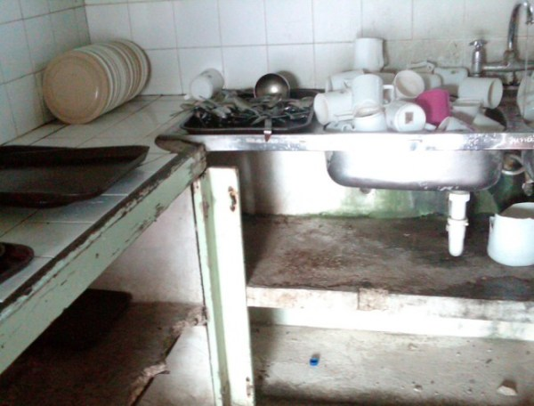 This photo, said to be a section of the hospital's condemned kitchen, was sent by a concerned employee. The hospital's meals are currently prepared at the Geriatric Hospital on Beckles Road, St Michael.
