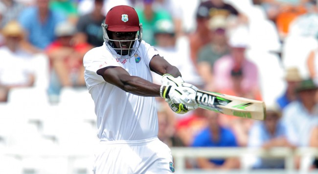 CAPE TOWN, SOUTH AFRICA - JANUARY 03: Jason Holder of the West Indies during day 2 of the 3rd Test between South Africa and West Indies at Sahara Park Newlands on January 03, 2015 in Cape Town, South Africa. (Photo by Carl Fourie/Gallo Images)