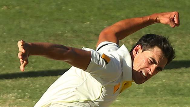Mitchell-Starc-of-Australia-celebrates-after-dismissing-Murali-Vijay