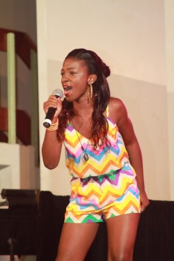 Ah-Dee-Lah was in fine form Saturday night delivering her song Remember Me.