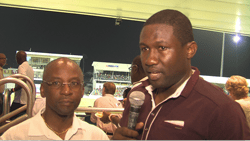 A most satisfied Minister of Sport Stephen Lashley  (at left) and West Indies Players Association president Wavell Hinds.