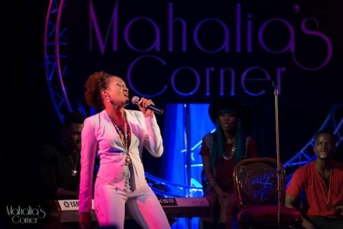 Betty Payne lit up Mahalia's Corner.