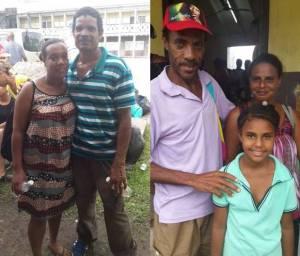 Evacuees from Petite Savanne at the Dominica Grammar School.