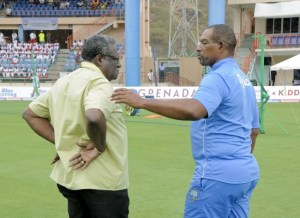 Clive Lloyd (left) and Phil Simmons.