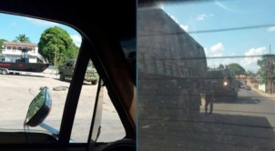 Photos which reportedly show Venezuela troops near Guyana.