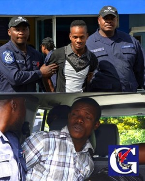 Murder accused Andre Romeo and Naajip Hills.