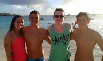 (From left) McKayla Treasure, Luis Weekes, Taylor Abbott and Kobi Talma.