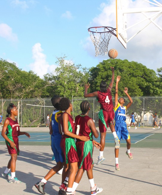 Not even Graydon Sealy's tallest player Shadae Carrington (number four) had an answer for Combermere when they went on the offensive.