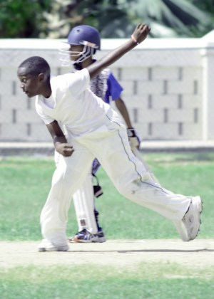 Raneico Smith bowled well for Charles F Broome without much reward.