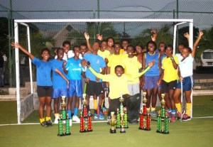 Combermere School have done the  double in both the Senior Boys and Girls National Sports Council Schools  League Hockey competition. (Picture by Morissa Lindsay)