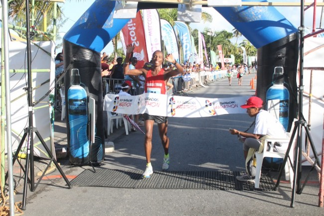 The winner of today's marathon, Trinidadian Curtis Cox.