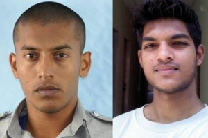 Dead are Police Constable Russell Ramnarine (left) and UWI engineering student Avery Keshwar.