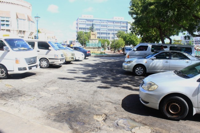Taxies in Bridgetown.