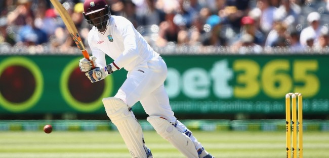 Carlos Brathwaite impressed with the bat on another tough day for the West Indies.