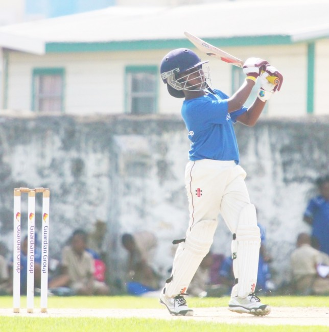 Wesley Hall Captain Joshua Morris ended his final year in the Herman Griffith Competition with a bang when he score 42 in the final today to lead his side to victory and had the most runs with 454 overall in the tournament. (Pictures by Morissa Lindsay).