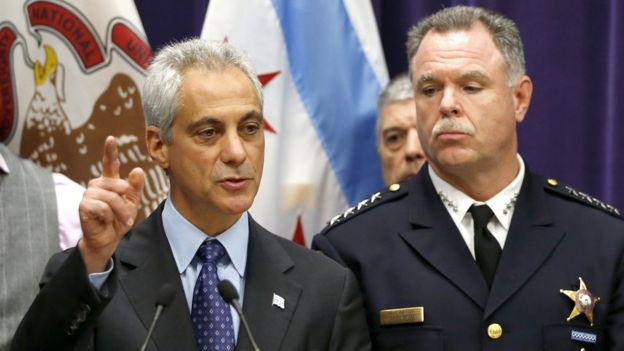 Rahm Emanuel (left) said he had to ask Garry McCarthy (right) to resign for the department to move on.