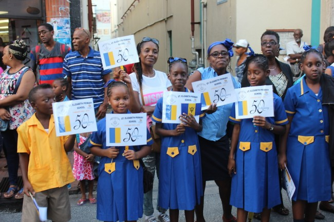 These St Elizabeth Primary  School students were not left out.