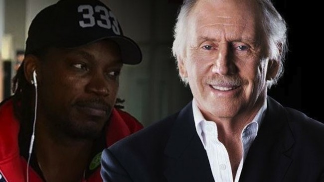Ian Chappell (r) and Chris Gayle