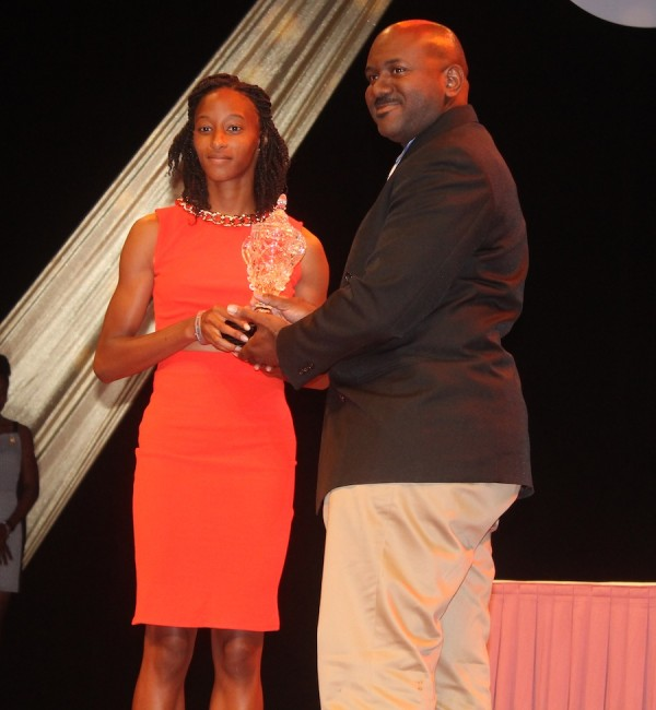 Junior Female Sportsperson for 2015 Sada Williams.