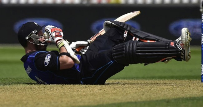 Mitchell McClenaghan was struck on the face after blasting Pakistan to all parts.