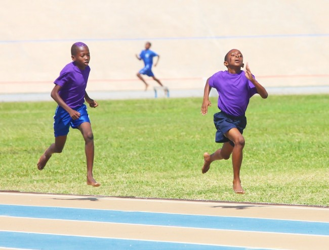 Victor Ludorum Xavier Harper and teammate Anmani Small came first and second in the  800m boys' opening.
