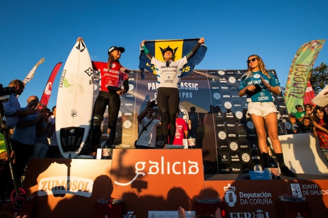 Chelsea Tuach was crowned the Woman's Champion at the WSL 6000 Pantin Classic held in Galicia, Spain, in September, 2015.