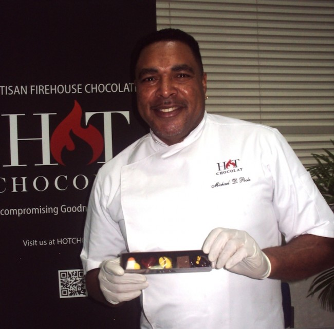 Barbados Chocolate Festival headliner chef Michael Poole of Hot Chocolat Artisan Firehouse Chocolates  in Seattle.