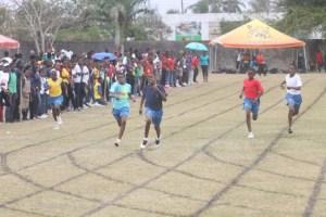 Division 4's Kadri Walcott (centre) of Set A won the 200m.