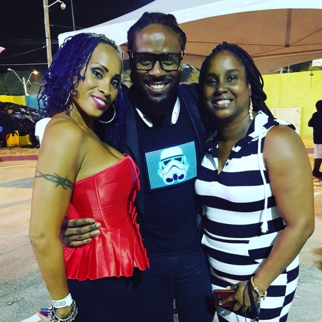 Kirk Brown with Alison Hinds and assistant Jennifer Young after the show.