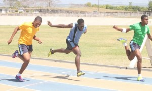 It was a close finish in the under-17 boys 100m when Tajiri Griffith of Lyson House barely edged out Oneal House pair of Savio Fergusson and Delano Williams.