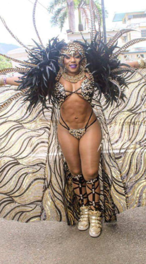 Queen of Bacchanal Destra before hitting the road.