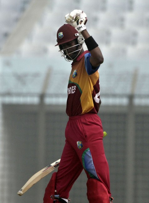 Shamar Springer top-scored with 61 and took two wickets in the West Indies win today.