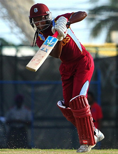 Shaquana Quintyne made a top-score of 40 and had figures of 1 for 28 in 10 overs.