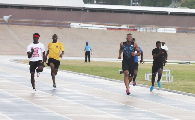 Victor ludorum Kevin Briggs of Skeete House looked calm and composed in the under-20 boys 200m.
