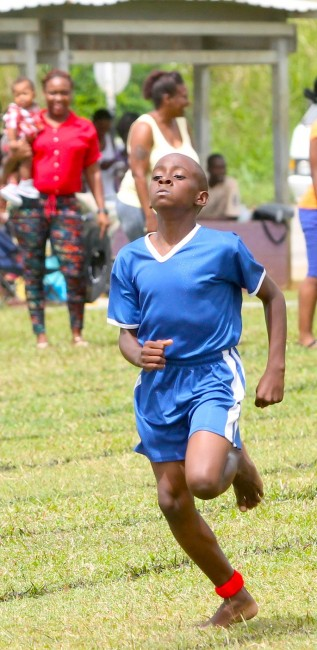Victor ludorum went to the fastest boy at St Joseph Primary Khalid Padmore of Red House, in the under-13 division.