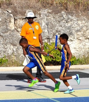 West Terrace Primary School had some of the smoothest hand-overs in the relays.