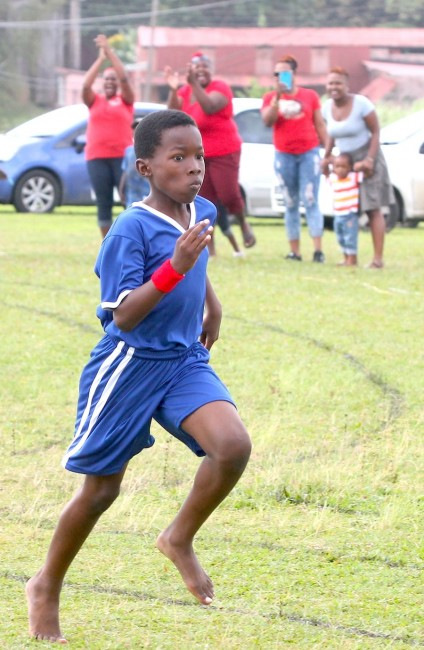 Zane Cox of Red House won the under-11 boys 100m convincingly.