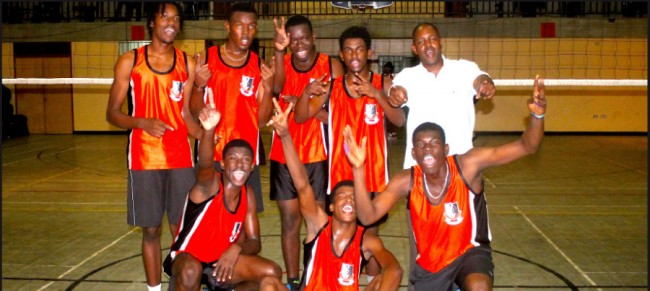 Barbados Community College captured their second consecutive  under-19 volleyball knockout title today. (Pictures by Morissa Lindsay)