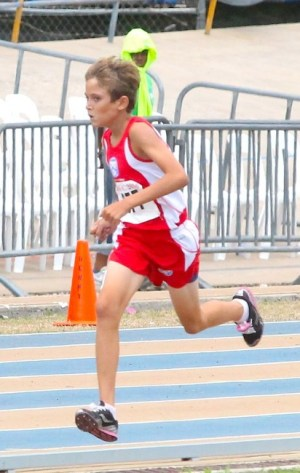 Daniel Gibbs of Queen's College won the under-13 boys 800m.