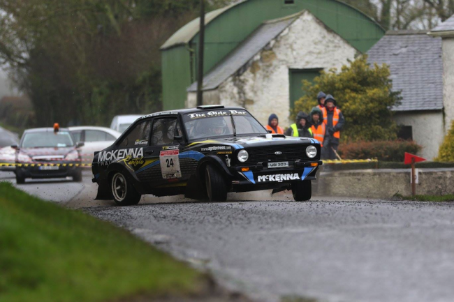 Jim McKenna in action in his Ford Escort MkII.