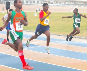 Malachi Harris of Frederick Smith Secondary stamped his authority to win the under-13 boys 100m.